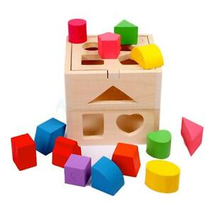 ... Learning-Wooden-Block-Shape-Sorting-Box-Children-Kids-Educational-Toy
