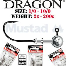 DRAGON Jig heads ALL SIZES / WEIGHTS Lure Fishing Jig Head Hooks For Soft Lures