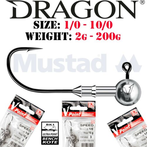 DRAGON Jig heads ALL SIZES WEIGHTS Lure Fishing Jig Head Hooks For Soft Lures