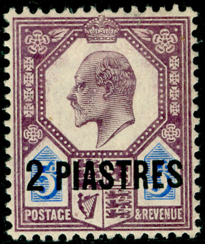 BRITISH LEVANT SG14a, 14pi on 5d dull purple & ultramarine, LH MINT. Cat 30.