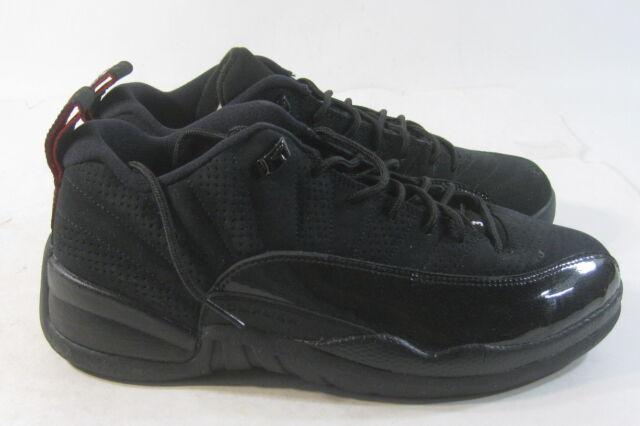 50f46f456e1575 Nike Air Jordan XII 12 Retro Low Black varsity Red 2011 308317-001 Men s Sz  8