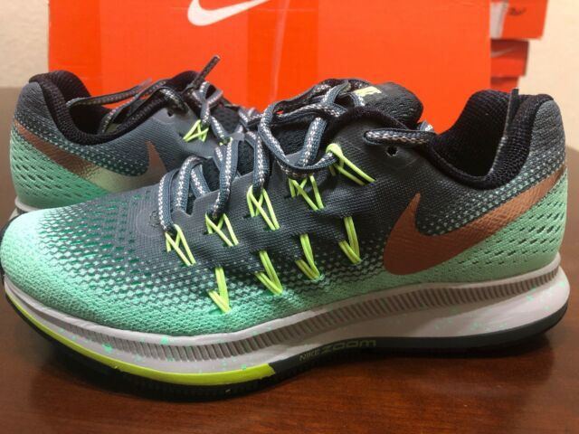 WOMENS NIKE AIR ZOOM PEGASUS 33 SHIELD RUNNING SHOESSIZE 5.5 HASTA BRONZE