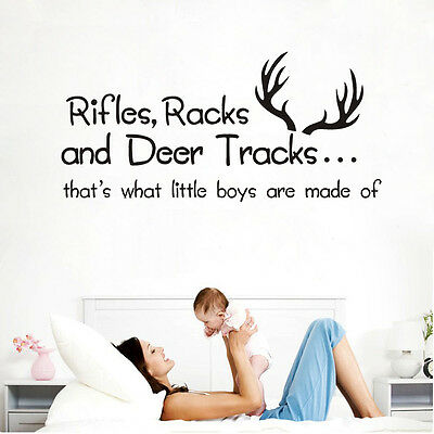 """Wall stickers """"What little boys are made of""""  decal Vinyl Decor Nursery Kids Au"""