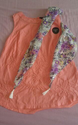 F/&f Femmes Brodé Haut Débardeur avec motif floral foulard