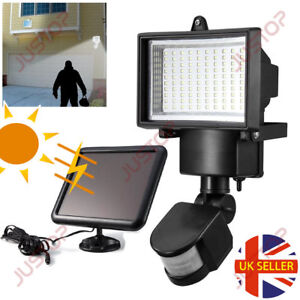 100 led bright solar powered pir sensor flood security light outdoor image is loading 100 led bright solar powered pir sensor flood aloadofball Choice Image