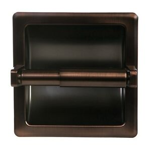 Oil-Rubbed-Bronze-Bathroom-Mounted-Recessed-Toilet-Paper-Holder-Bath-Accessory