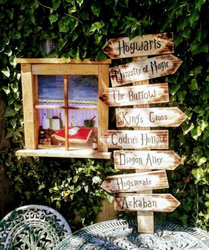 Hogwarts Askaban £35 for set or £7.99ea Harry Potter themed reclaimed wood sign