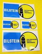Classic Car Rally/Race BILSTEIN sticker set 2 large 2 small GLOSS LAMINATED