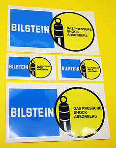 Classic-Car-Rally-Race-BILSTEIN-sticker-set-2-large-2-small-GLOSS-LAMINATED
