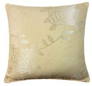 Orby-Tejido-Grueso-Floral-Suave-beis-crema-Funda-de-cojin-45-7cm-45cm