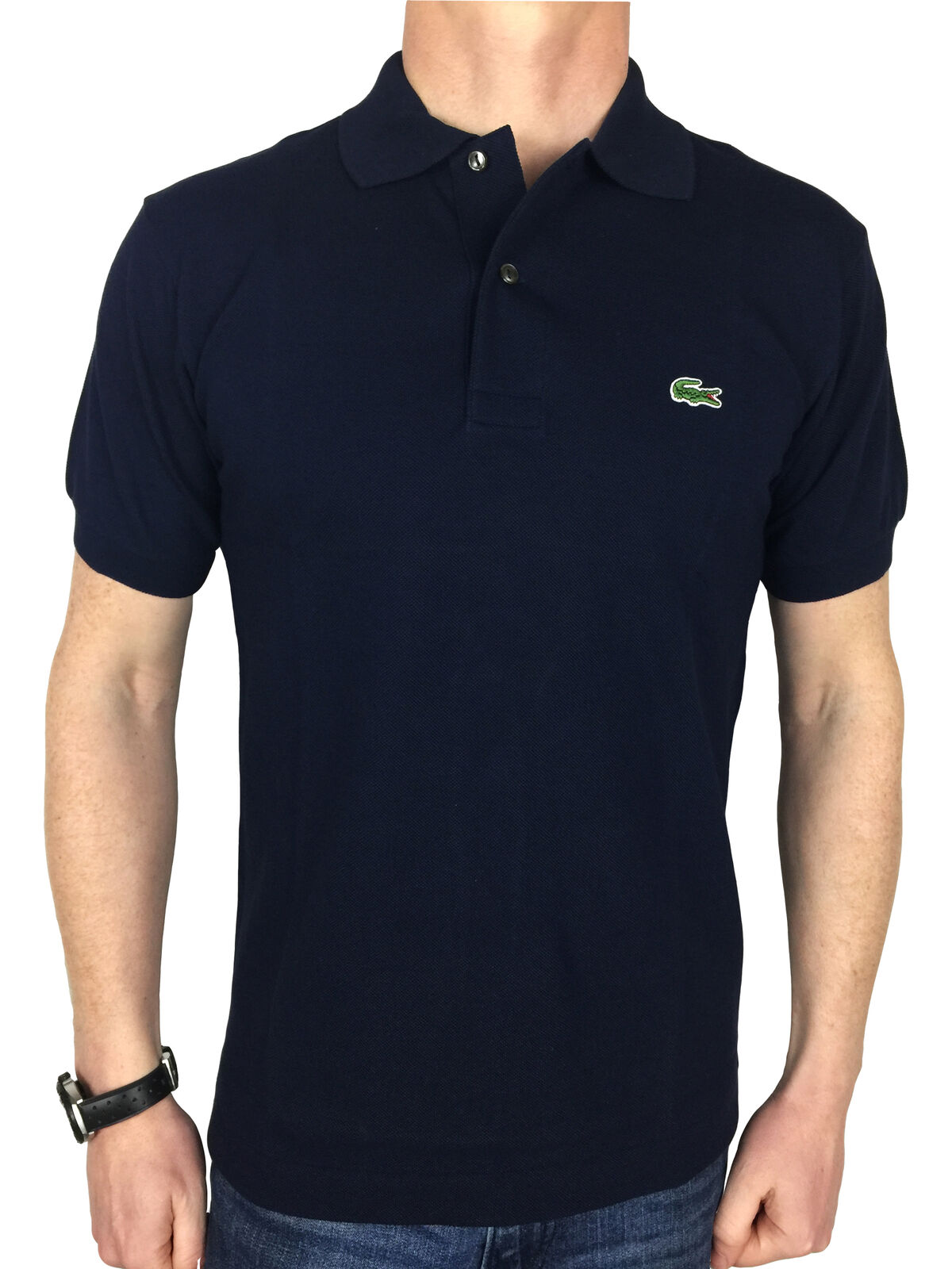 6d0991a3db Lacoste Mens Polo Shirt Navy bluee in L1212 noggbx4644-Casual Button ...