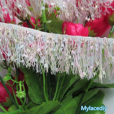 1 yd Vintage Fringe Lace Edge Trim Tassel Wedding Dress Ribbon DIY Sewing Craft