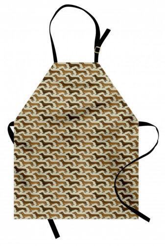 Dackel Kochschürze Sausage Dog Lover Muster Farbfest und Höhenverstellbar