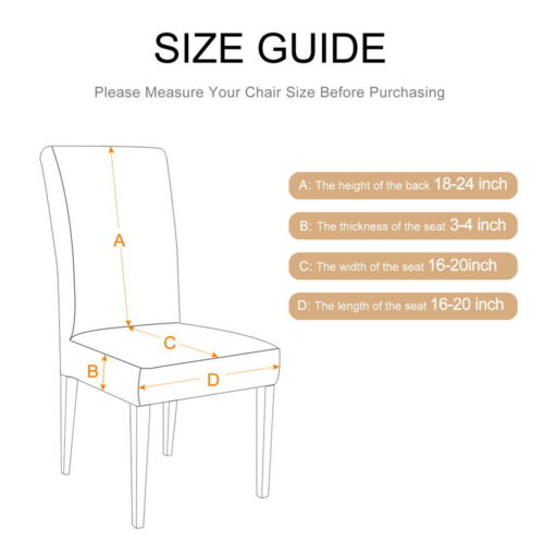 1//2//4//6X Stretch Dining Chair Covers Removable Slipcovers Wedding Banquet DecorS