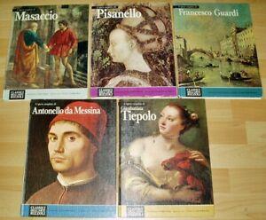 5-Buecher-Kunst-Gesamtwerk-italienisch-Masaccio-Guardi-Pisanello-Tiepolo-Messina