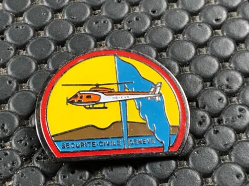 PINS PIN BADGE ARMEE MILITAIRE SECURITE CIVILE GENEVE HELICOPTERE