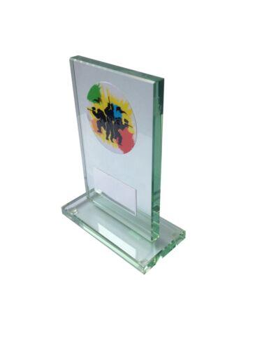 Free Engraving Glass Trampolining Trophy award