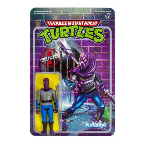Foot soldier Teenage Mutant Nina Turtles TMNT 3 3//4 Inch reaction personaje Super 7