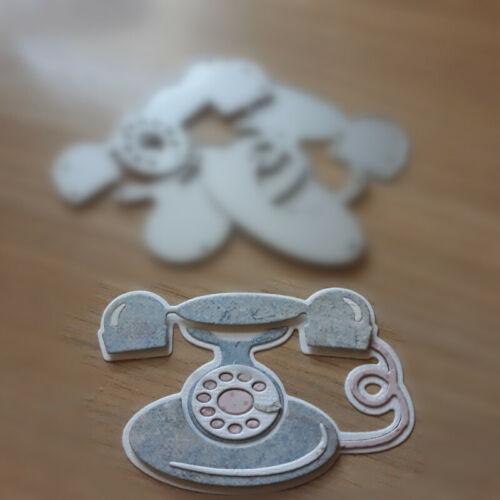 Telephone Set Metal Cutting Dies Stencil Scrapbook Album Embossing Gift Card DIY