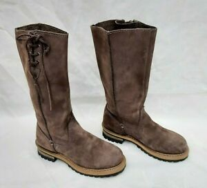 CAT-CATERPILLAR-BROWNIE-GREY-LEATHER-PULL-ON-BOOTS-UK3-EU36-WIDE-FIT-FREE-UK-P-amp-P