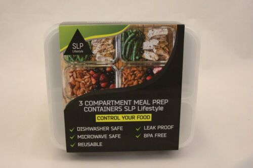3-Fach Meal Prep Container Lunchbox Mikrowellengeeignet Essensbox 8er Pack