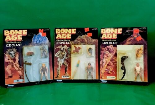 "1988 Bone Age ""MOK"",""CRAG THE CLUBBER"" And ""VOLC THE VORACIOUS"" NIC By kenner"