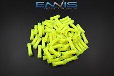 10 12 Gauge Nylon Butt Connector 100 Pk Crimp Terminal Yellow Awg Ga Car Suv
