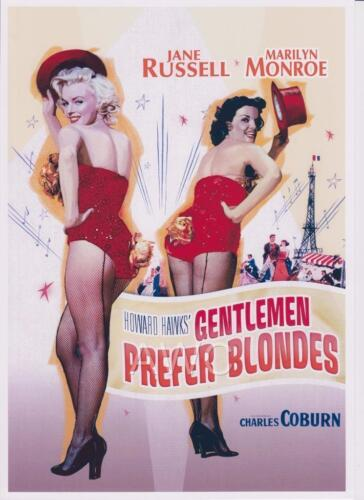 MARILYN MONROE JANE RUSSELL REPRODUCTION MOVIE POSTER A3 or A4 OPTIONS AVAILABLE