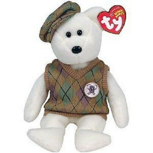 "TY Original Beanie Babies 8.5/"" PGA Tour Bear NEW with Tags"