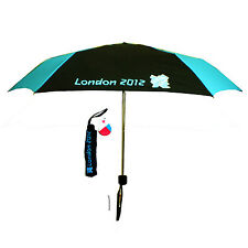 London Olympic 2012 Black & Blue Compact Folding Umbrella