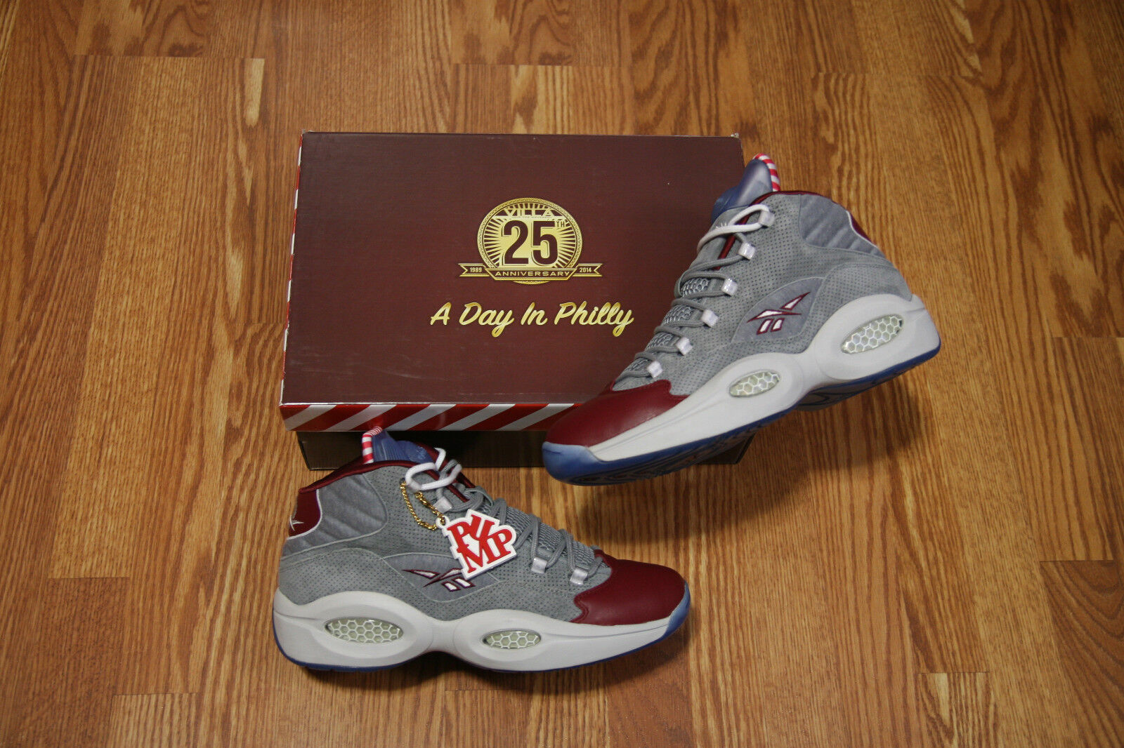 REEBOK VILLA PUMP QUESTION A DAY IN PHILLY Limited Box Sz 12