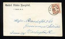 "COVER - #65, New Jersey Civil War Military Hospital, ""Beverly, N. J. / Dec 13"""