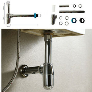 Image Is Loading Chrome Bottle Trap Basin Waste Bathroom Sink Tap