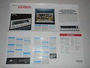 Kenwood-KR-6600-Receiver-Brochure-6-pages-Specs-Articles-Very-rare