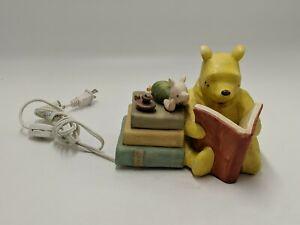 Disney-Vtg-Classic-Winnie-The-Pooh-Piglet-Book-Reading-Night-Light-Nursery-Lamp