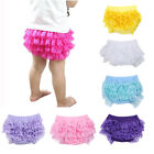 Baby Girl Ruffle Lace Cotton Pants Shorts Bloomer Toddler Diaper Nappy Cover Hot