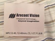 $169 Arecont Vision MPL12-40 12-40mm Manual Iris Varifocal Lens
