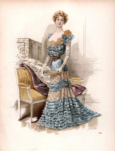 Elegant Victorian//Georgian Ladies Of Fashion Antique Style Prints Multi Sizes 05