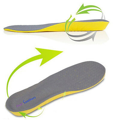 Foot Soothers Sole Memory  Orthotic Arch Support Insoles Shock Absorption