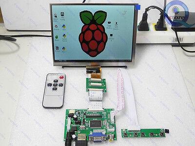 HDMI+VGA+2AV+Rear View Monitors + 8inch HJ080IA-01E 1024*768 IPS LCD