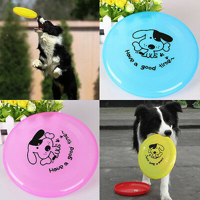 Pet Toy Dog Training Flying Saucer Durable Flexible Frisbee Dish Plate Puppy