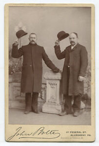 Image Is Loading Two Men Tipping Bowler Hats Allegheny Pittsburgh Pa