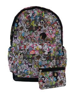Funky-Cartoon-Unicorn-Backpack-Rucksack-School-Travel-Emo-Skull-PremEss-Bag-004
