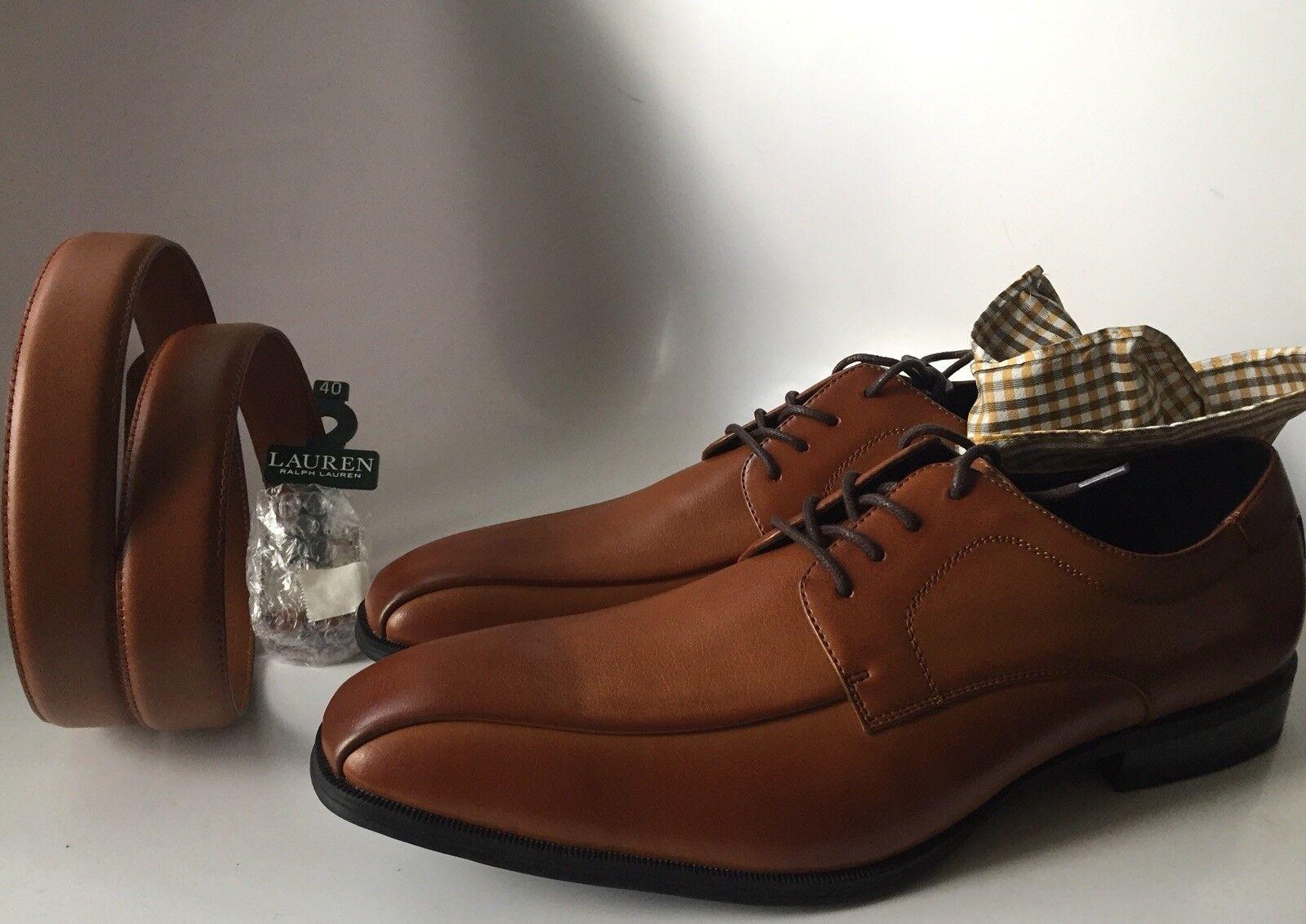 f8e69039a381 Men s Men s Men s Alfani Seth Tan Dress shoes Size 13 M Ralph Lauren Belt  Sold Separately