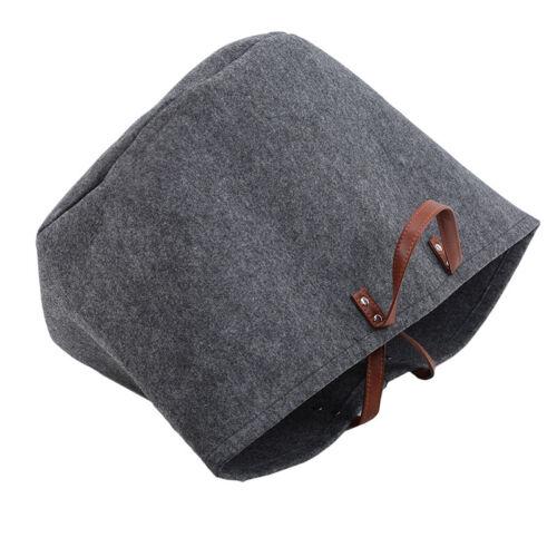 Dirty Clothes Storage Bag Basket Laundry Artificial Felt Washing Bin Foldable N7