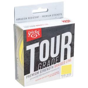 Strike-King-Tour-Grade-Braid-Yellow-Braided-Line-Superbraid-Hi-Vis-Fishing-Line