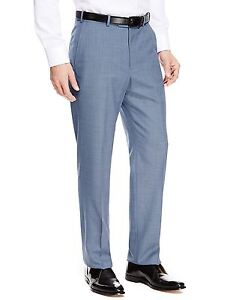 EX-M-amp-S-Marks-And-Spencer-Ultimate-Perfomance-Flat-Front-Trousers-With-Wool