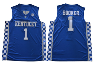 outlet store 2a35c e5bd7 Details about Devin Booker Kentucky Wildcats Basketball Jersey Stitched NBA  NCAA
