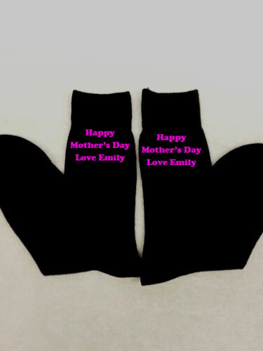 PERSONALISED LADIES SOCKS MUM MUMMY MOTHER/'S DAY GIFT EMBROIDERED MESSAGE PRES