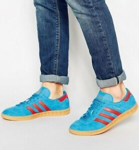 Días laborables A gran escala Circunferencia  Adidas Hamburg Blue Suede / Red Stripe Men's 11 spezial samba trimm | eBay